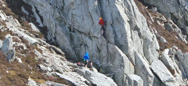 18 climbers on Holyhead Mountain, Ruth's coastal walk, Anglesey