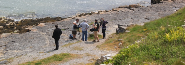 18 film crew, Benllech, Ruth's coastal walk, Wales