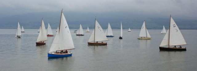 18 Yacht racing, Beaumaris, Ruth hiking the coast, Anglesey