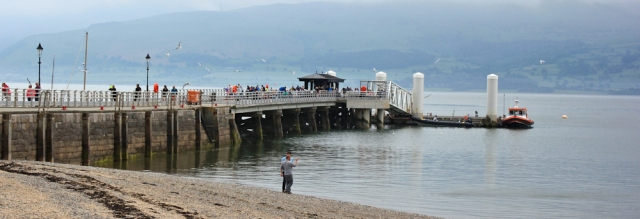 19 Beaumaris Pier, for Puffin Island, Ruth on Anglesey