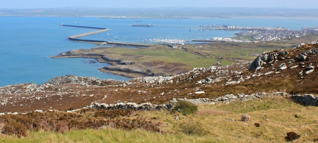 20 Holyhead New Harbour, Ruth walking the coast, Anglesey