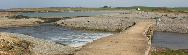 22 shingle walking, Ruth walking the Isle of Anglesey Coastal Path