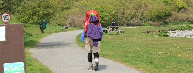 25 a proper walker, Ruth Livingstone hiking the Anglesey coast path