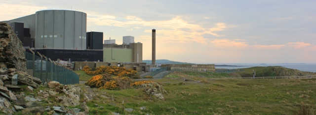 27 sunset Wylfa Power Station, Ruth Livingstone walking the coast