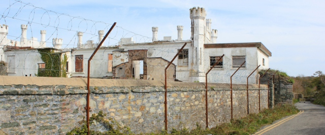 28 ruined buildings, Ruth walking to Holyhead, Anglesey coastal path