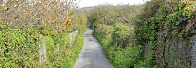 29 long lane into Holyhead, Ruth walking in Anglesey