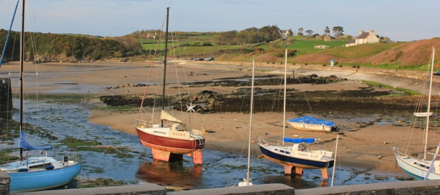 31 sunset Caemas harbour, Ruth's coastal walk, North Anglesey