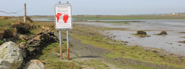 a11 Penrhyn Bach sign, Ruth's coastal walk, Anglesey