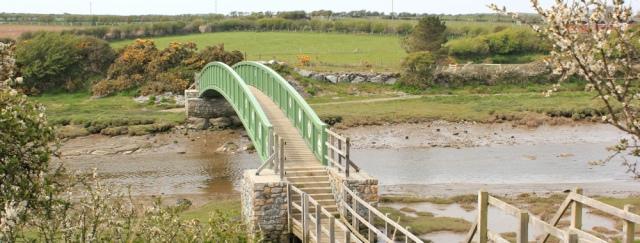 a20 bridge over river, Llangachraeth, Ruth's coastal walk