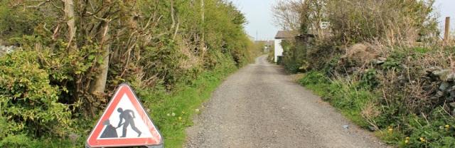 a22 men working, Llanfachraeth, Ruth's coastal walk