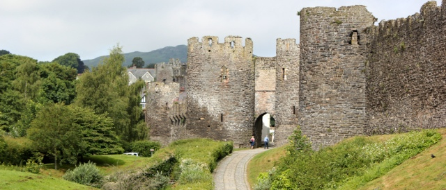 Conwy Castle, Ruth's coastal walk, Wales