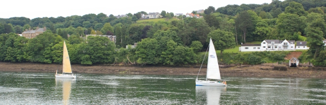 03 ships in the Menai Strait, Ruth's coastal walk around Anglesey