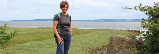 04 Ruth Livingstone walking up the Dee Estuary, Wales Coast Path