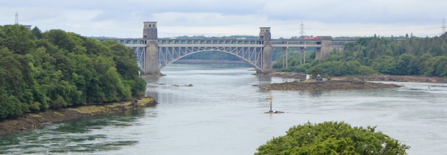05 Pont Britannia, view from the Menai Suspension Bridge, Ruth Livingstone
