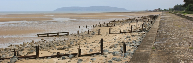 07 groynes, Ruth Livingstone approaching Llanfairfechan, North Wales Coast