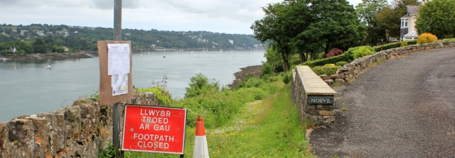 11 closed footpath, Ruth's coastal walk, Bangor