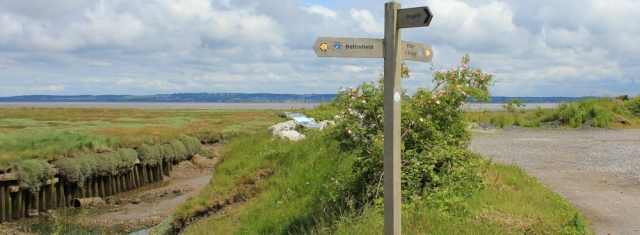 12 Wales Coast Path sign, Ruth in Bagillt