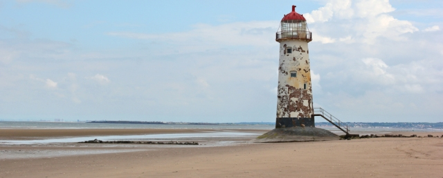 13 lighthouse, Point of Ayr, Ruth's coastal walk