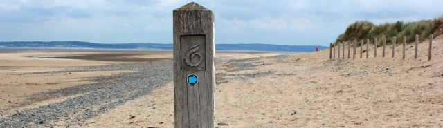 14 Point of Ayr coastal path, Ruth walking in Wales