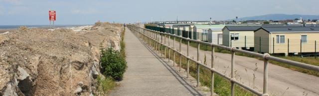 15 holiday parks, Ruth walking the North Wales Coast