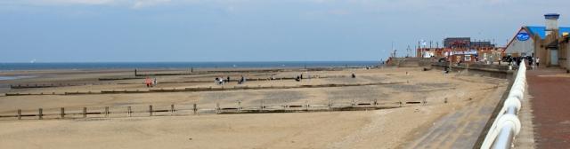 19 beach at Rhyl, Ruth's coastal walk, North Wales