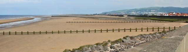 21 more beach, Rhyl, Ruth hiking the Welsh coast