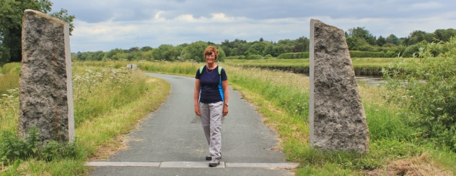 26 Ruth Livingstone at the end of the Wales Coast Path