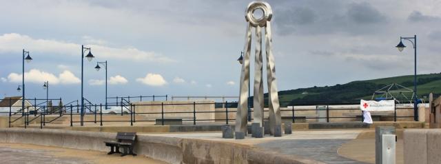 27 metal sculpture, Prestatyn, Ruth's coastal walk, Wales