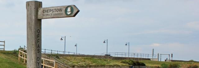 28 Chepstow sign, Ruth's coastal walk, Prestatyn, Wales