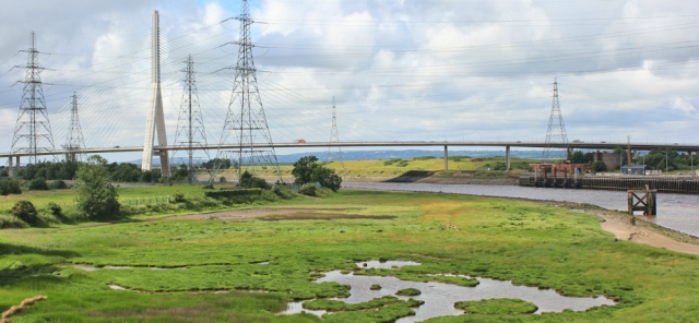 29 view over A548 bridge, Ruth's coastal walk, Connah's Quay