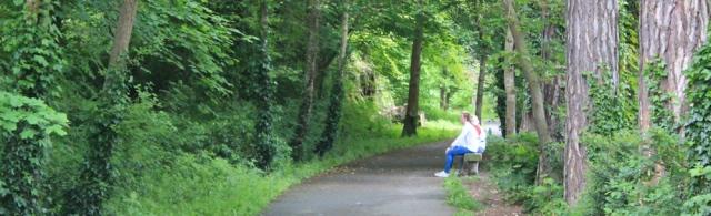 a01 North Wales Path, Bangor, Ruth walking the coast