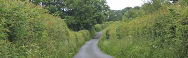 a05 country road to Llandgai, Ruth's coastal walk, North Wales
