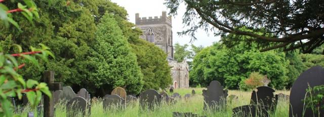 a07 llandygai church, Ruth walking the coast, North Wales