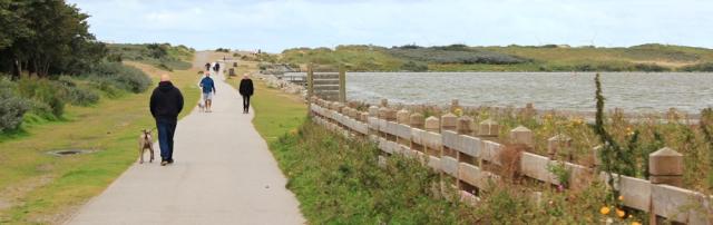 01 walking by Marine Lake, Waterloo, Crosby, Ruth Livingstone