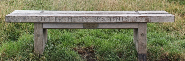 06 It's definitely brightening up bench, The Wirral, Ruth Livingstone