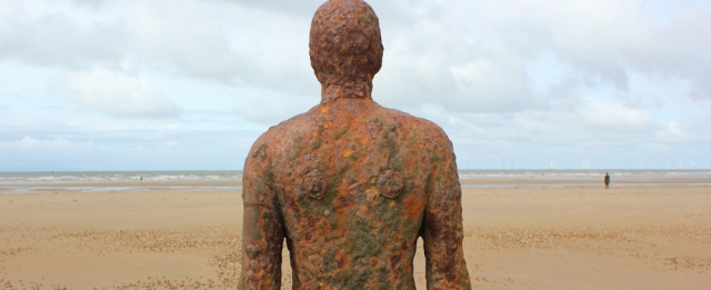 06b Gormely colours, Ruth's coastal walk, Iron Men