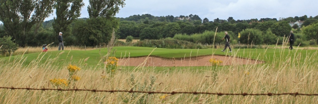 07 golf course, Hewswall, Ruth's coastal walk