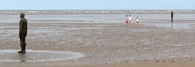 08 lonely Gormley, Ruth's coastal walk, Sefton, Crosby