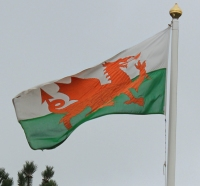 09a welsh flag, Ruth Livingstone in Deeside