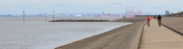 10 cycling along Wallasey Embankment, Ruth's coasal walk