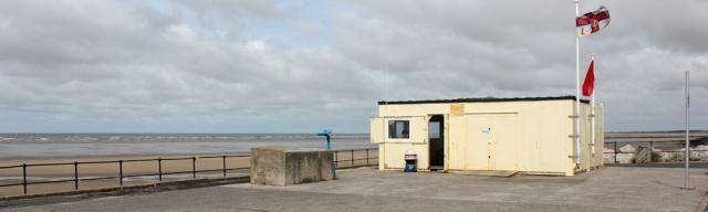 11 lifeguard hut, Crosby beach, Ruth's coastal walk