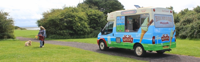 15 ice cream van, Ruth hiking in the Wirral