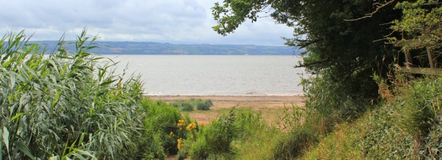 16 Ruth walking the coast, Dee Estuary