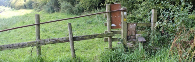 29 stile and overgrown footpath, Hesketh Bank