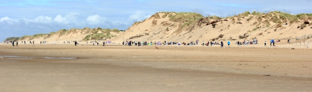 30 people on Formby Beach, Ruth Livingstone's coastal walk, England