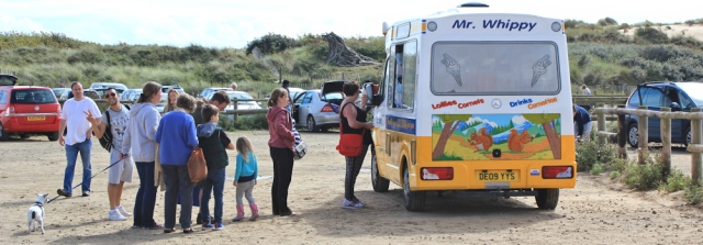 33 ice cream van, Formby beach, Ruth's coastal walk