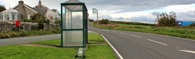 51-bus-stop-baycliff-cumbria-ruth-hiking-to-barrow-in-furness