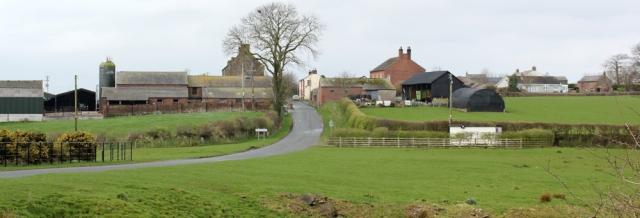 02 Drumburgh, Ruth walking the coast path, Cumbria