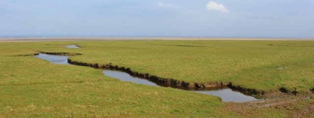 05 Burgh Marsh, Ruth walking the English Coast, Hadrian's wall