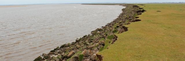08 crumbling coast, Burgh Marsh, Ruth Livingstone hiking in Cumbria